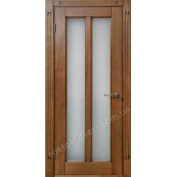 Двери из натурального дерева со стеклом, MD-12