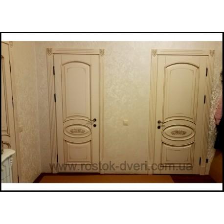 Белые межкомнатные двери из массива